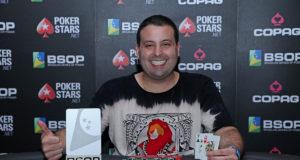 Luiz Neto campeão do SuperFlop do BSOP Brasilia