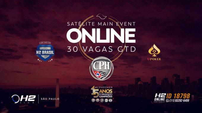 Satelites para o Main Event do CPH na Liga Online H2 Brasil