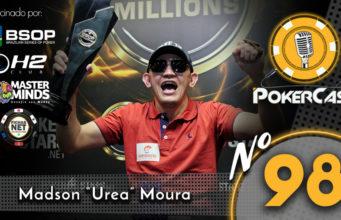 """Madson """"Urea"""" Moura é o convidado do 98º do Pokercast"""