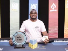 Henrique Barbosa campeão do Pot-Limit Omaha 5-Card 6-Max KO
