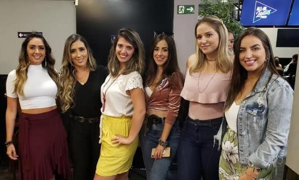 Mirelle Moschella, Luana Alves, Karen, Realli, Laurinha Cintra, Milena Magrini e Bruna Unzueta - H2 Club Campinas