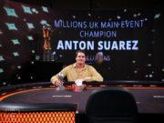 Anton Suarez - Campeão partypoker MILLIONS Reino Unido