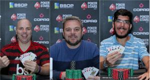 Alex Denz, Rodrigo Garrido e Nikolas Carvalho divedem a liderança do ranking de Mixed Games do BSOP