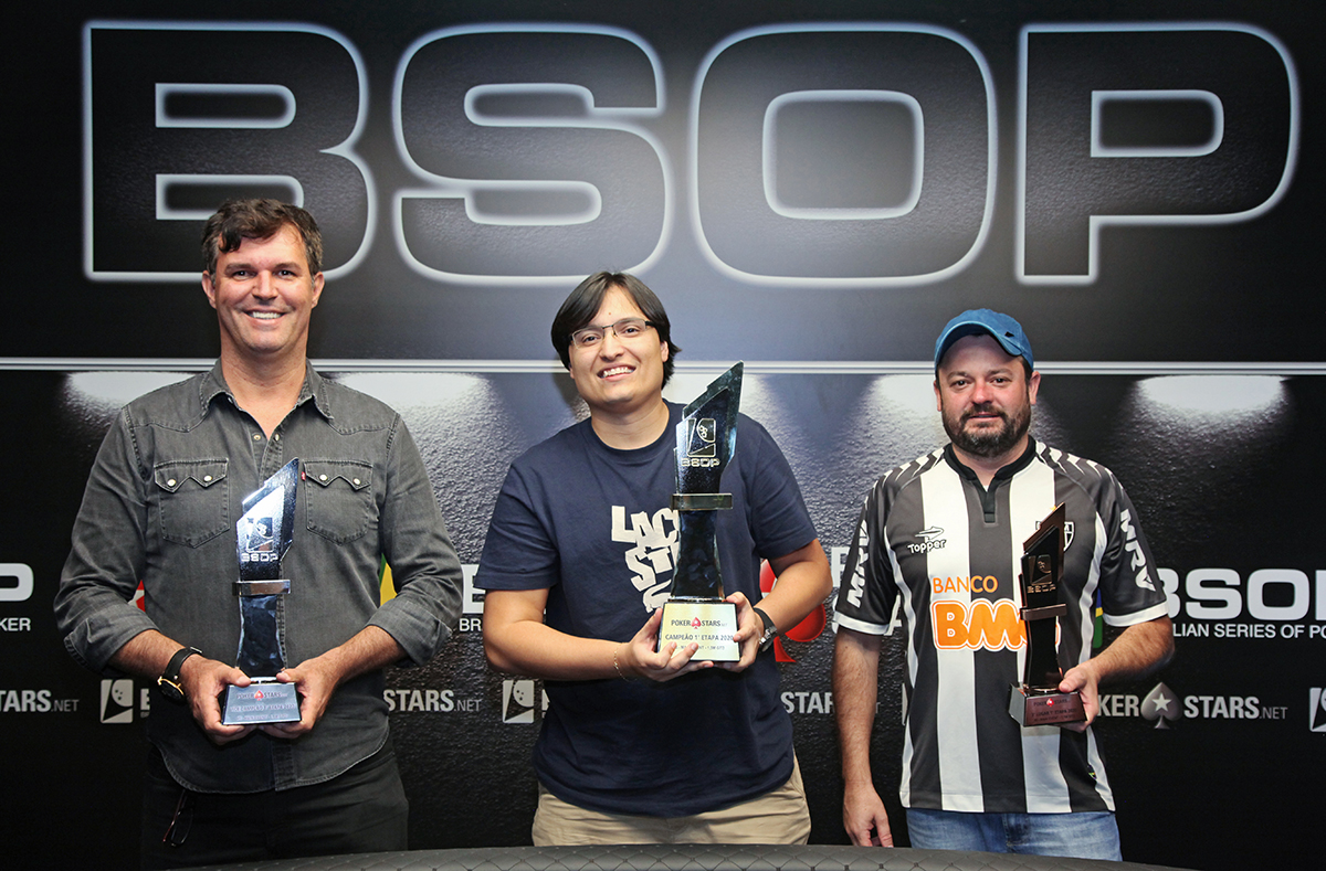 Pódio do Main Event do BSOP Brasília