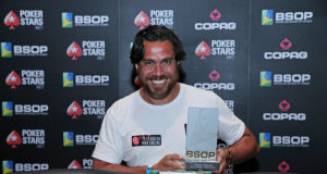 Jean Vicente campeão do Pot-Limit Omaha do BSOP Brasília