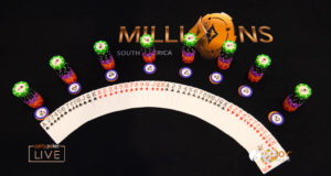 Mesa e fichas - MILLIONS South America
