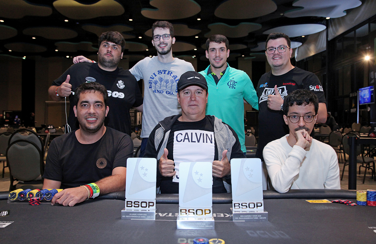 Mesa Final do 6-handed Turbo Knockout do BSOP Brasília