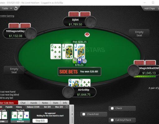 Side Bets no PokerStars