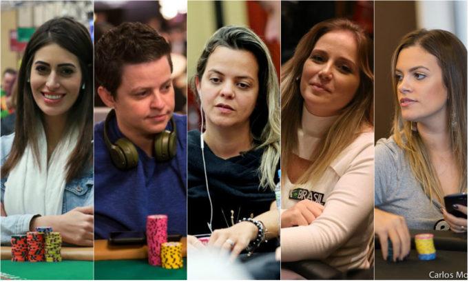 Vivian Saliba, Ana Freitas, Carol Durpe, Milena Magrini e Gabriela Belisário