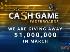 Cash game leaderboards - partypoker