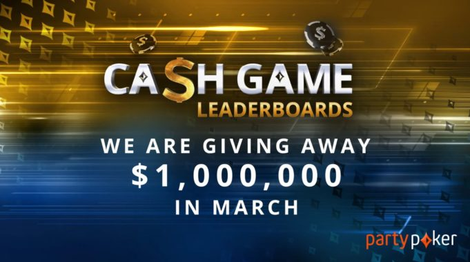 Cash game leaderboards - partypoker