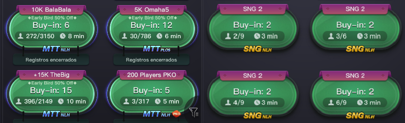 Mesas PPPoker