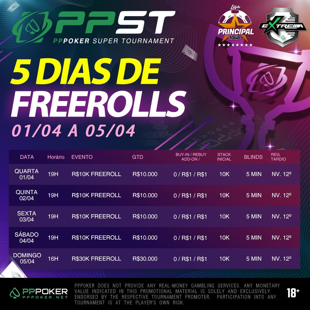 Agenda do PPST Freerolls