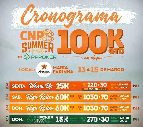 Cronograma do CNP Summer Fest - PPPoker