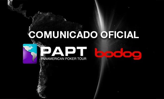 Comunicado oficial - PAPT Bodog