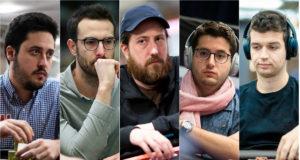 Adrian Mateos, Vicent Bosca, Steve O'Dwyer, Juan Pardo Dominguez e Michael Addamo