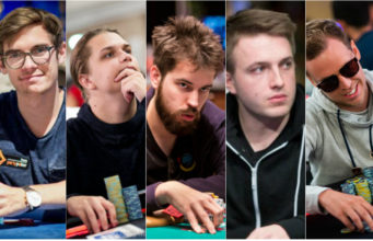 Fedor Holz, Niklas Astedt, Dominik Nitsche, Samuel Vousden e Simon Mattsson