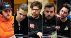 Simon Pedersen, Niklas Astedt, Mustapha Kanit, Andras Nemeth e Adrian Mateos