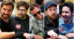 Timothy Adams, Mustapha Kanit, Simon Mattsson, Steve O'Dwyer e Adrian Mateos