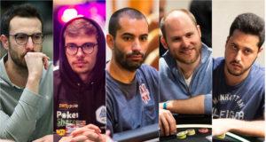Vicent Bosca, Fedor Holz, João Vieira, Sam Greenwood e Adrian Mateos