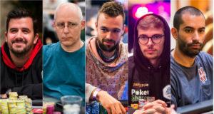 Andras Nemeth, Talal Shakerchi, Ole Schemion, Fedor Holz e João Vieira