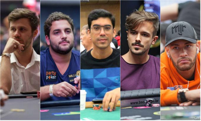 Kelvin Kerber, João Simão, Pablo Brito, Yuri Martins e Neymar