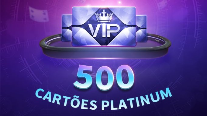 Promoção 500 cartões VIP Platinum - PPPoker