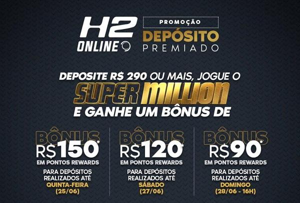 Programa H2 Rewards no Super Million - Liga SuperPoker