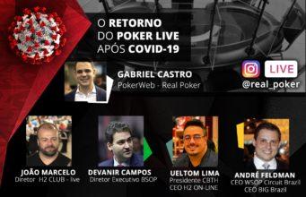Live no Instagram da Real Poker