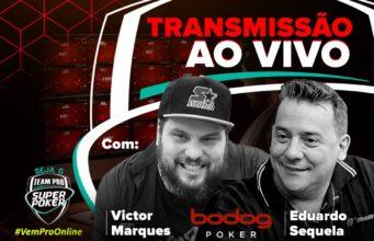 Transmissão ao vivo com Vitão e Sequela - SuperPoker Team Pro