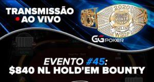 Transmissão do Evento #45 da WSOP Online
