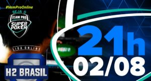 Segundo torneio de agosto na Liga Online H2 Brasil - SuperPoker Team Pro