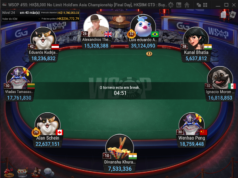 Mesa Final do Evento #55 da WSOP Online