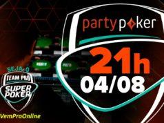 Terceiro torneio de agosto, no partypoker - SuperPoker Team Pro