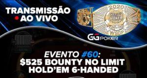 Transmissão Evento #60 da WSOP Online
