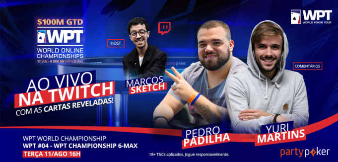 Transmissão do WPT WOC com Yuri Martins e Pedro Padilha - partypoker