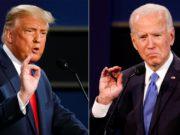Joe Biden e Donald Trump se enfrentam pela presidência dos EUA