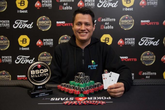 Victor Andreoletti foi campeão de um dos torneios paralelos do BSOP