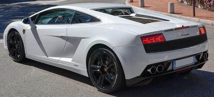Vrabel levou a belíssima Lamborghini Gallardo