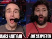 James Hartigan e Joe Stapleton mostraram surpresa com a runnada