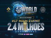A semana da Liga Online H2 Brasil é marcada pelo Main Event do World Championship