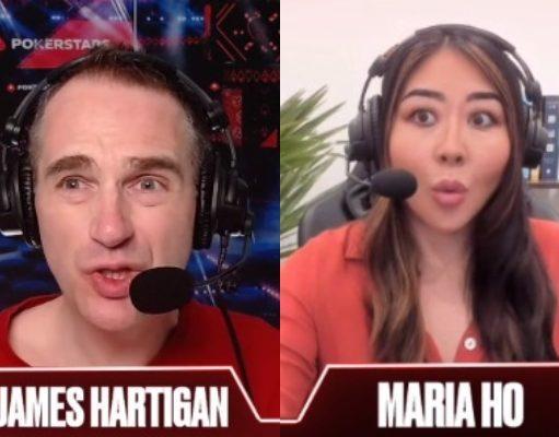 """James Hartigan e Maria Ho ficaram surpresos com o fold de """"TheRaven26"""""""