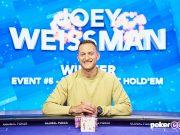 Joey Weissman embolsou mais de US$ 200 mil com o título do Evento #5 do USPO (Foto: PokerCentral)