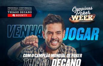 Poker Week com Thiago Decano vai agitar o H2 Club Campinas