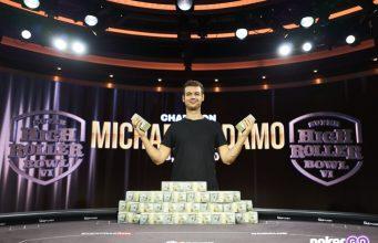 Michael Addamo faturou o maior prêmio da carreira (Foto: PokerGo)