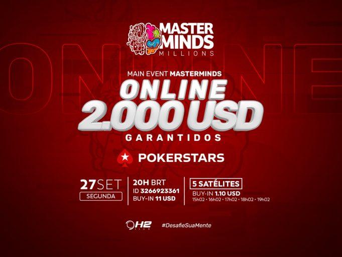 MasterMinds 14 terá um Main Event Online