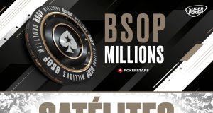 Satélites para o BSOP Millions já estão disponíveis no PokerStars