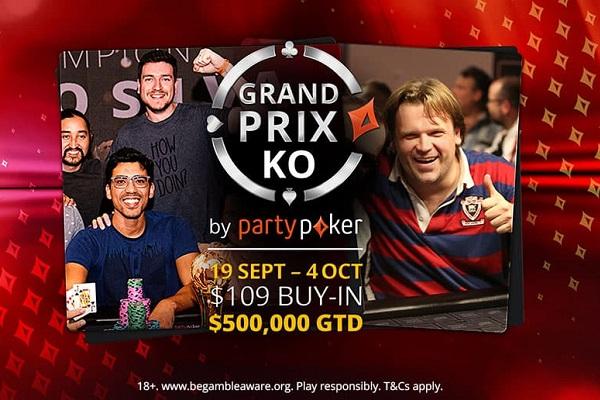 Grand Prix KO Series retorna ao partypoker com diversas atrações