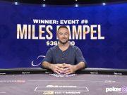 Miles Rampel surpreendeu a todos e cravou o Evento #9 do Poker Masters