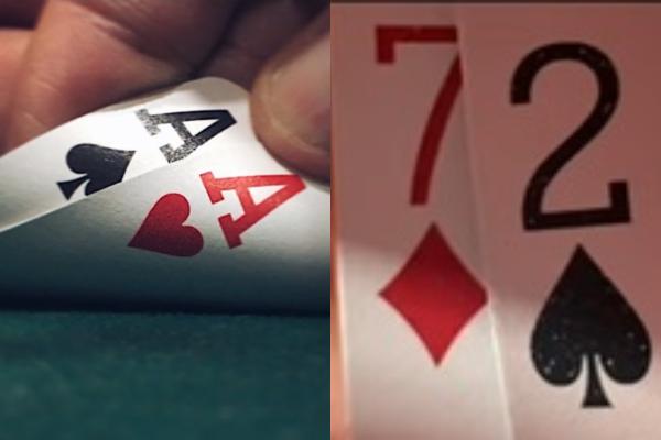 O AA foi quebrado pelo 72 em mesa final na WSOP